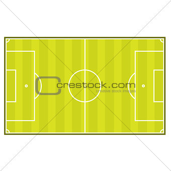 Soccer playing field layout - sports ground top view