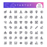 Startup Line Icons Set