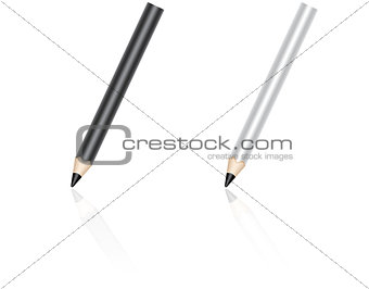 Pencil with reflection