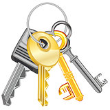 Ligament keys from doors