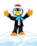 Penguin in suit
