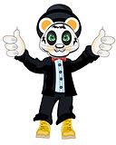 Animal panda in suit