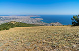 A view of the Crimean coast from the top of the mountain.