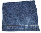 Cut of blue jeans fabric