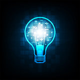 Light bulbs in creative ideas and intelligence.