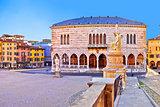 Piazza della Liberta square in Udine landmarks view
