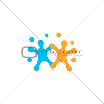 Human logo, mutual aid icon, people together abstract logotype. People support and hope symbol. Partnership vector design concept on white background.