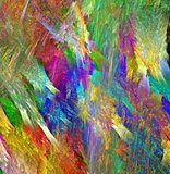 Rainbow crystal texture. Bright multicolored background. Fractal abstraction.