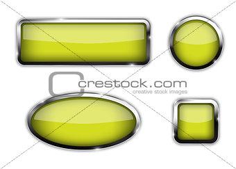 Glossy green web templates