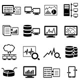 Big data, computer and cloud computing web icons