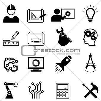 Engineering and design web icons