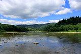 beautiful speed mountainous river