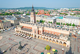 The historical center of Krakow in Poland, in a shot view from t