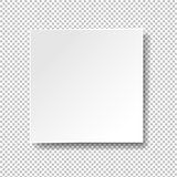 White Banner Isolated Transparent Background