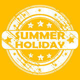 Summer holiday rubber stamp