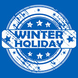 Winter Holiday rubber stamp