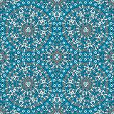 Hand drawn seamless background with blue ottoman motifs