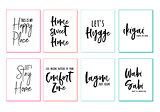 Home wall art prints, vector set