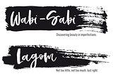 Wabi Sabi, Lagom, vector