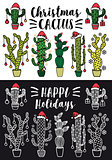 Christmas cactus, vector set