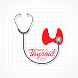 Vector illustration of World Thyroid Day Poster - Medical Concept