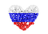 Small heart isolated - Russia