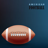 Football blue background with ball template
