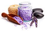 Spa still life with lavender salt