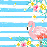 Blue summer vector tropical background