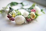 wreath, wedding, flowers