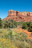 View of Courthouse Butte from Red Rock Scenic Byway in Sedona, Arizona