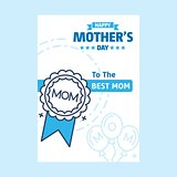 Happy Mothers Day lettering. Handmade calligraphy vector illustr