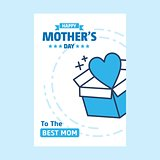 Happy Mother's Day text as celebration badge, tag, icon. Text ca