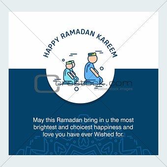 Ramadan Kareem Vector Background. calligraphy greeting card desi