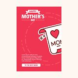 happy mother's day sweet background,greeting card, Flat design.