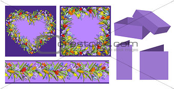 Set of floral templates
