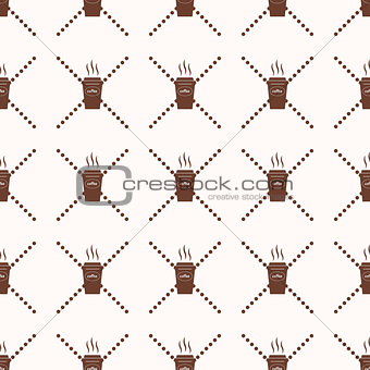 Pattern coffee cup Abstract Geometric Wallpaper Vector illustration. background. black and white. on white background. icon