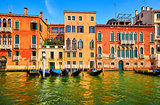 Venice, Italy. Gondolas on Grand Channel