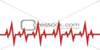 Cardiogram line 3D