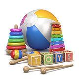 Kids toys concept 3D
