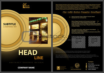 Black Flyer Template with Golden Design Elements
