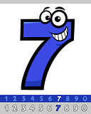 number seven cartoon character