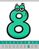 number eight cartoon character