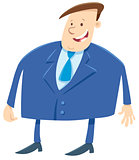 businessman or boss cartoon character