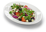 Greek salad with purslane