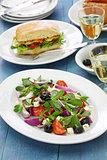 Greek salad with purslane