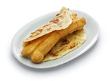 shaobing youtiao, chinese cruller in layered flatbread