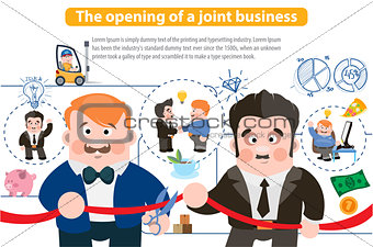 The opening of a joint business