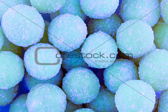 Sweet colorful background blue round sugar candy pattern design confectionery design base birthday