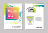 Abstract modern geometric cover and brochure design template bac